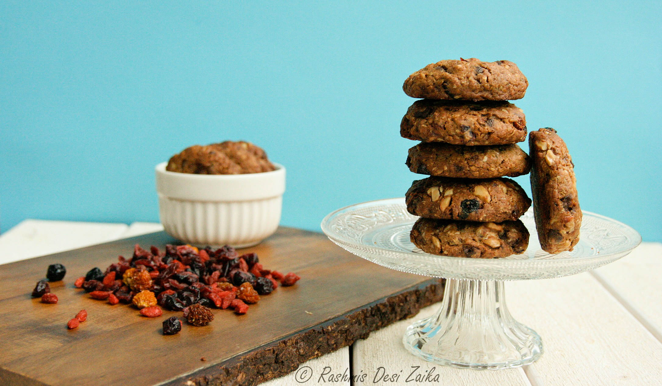 Spiced Oatmeal Cookies-With Homemade Granola
