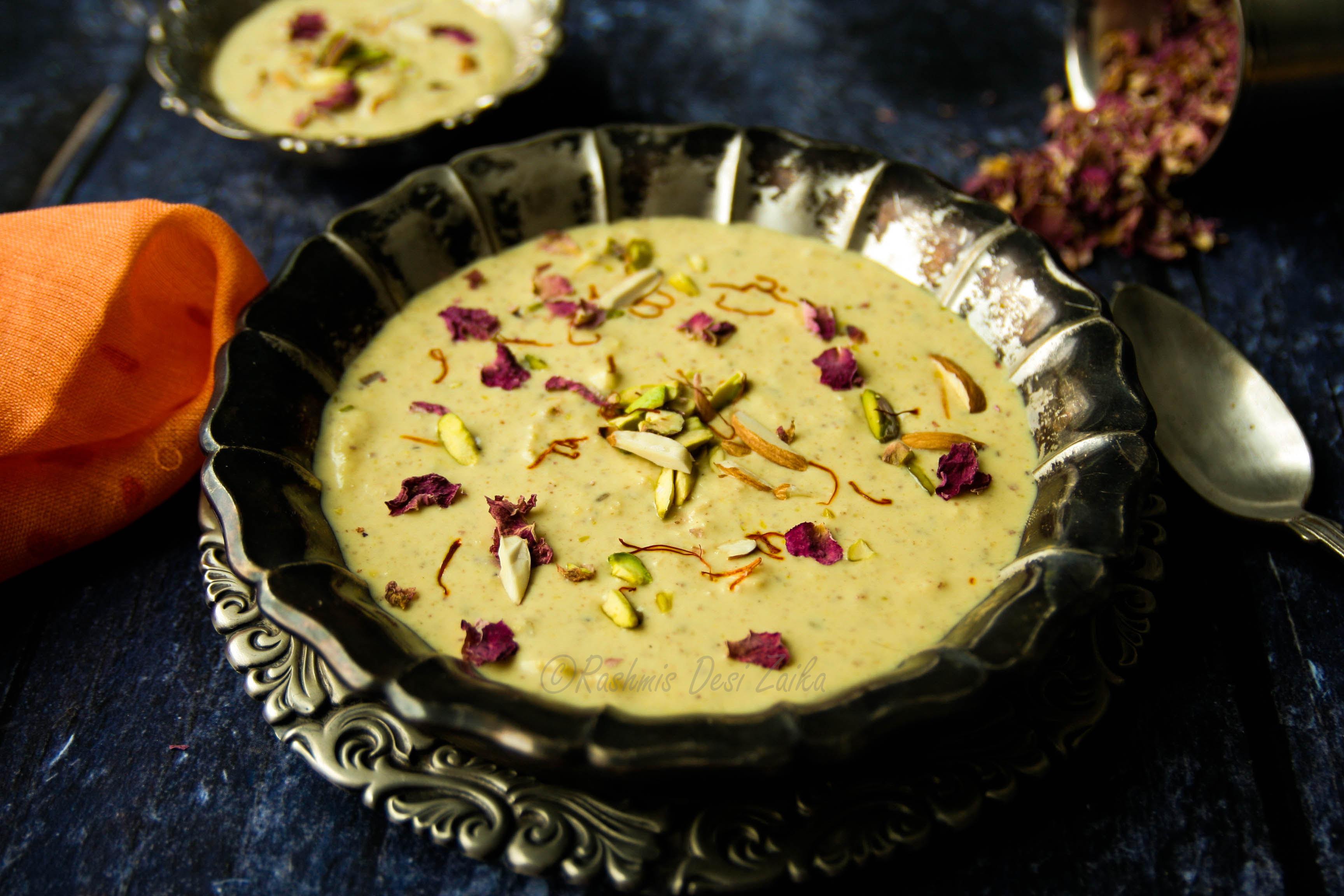 Thandai Spiced Rabri-Spiced Thickened Milk