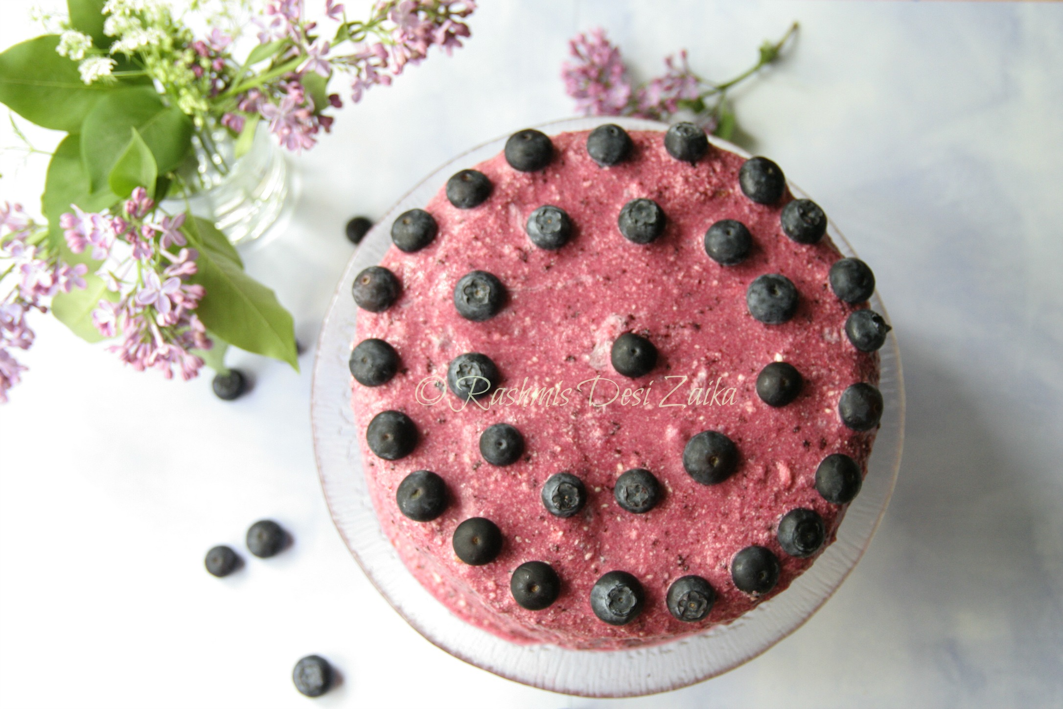 Lemon Poppy Seeds Layer Cake With Blueberry Compote