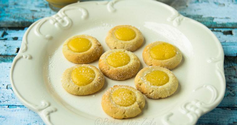 Black Pepper Thumbprint Cookies With Ginger Lemon Curd