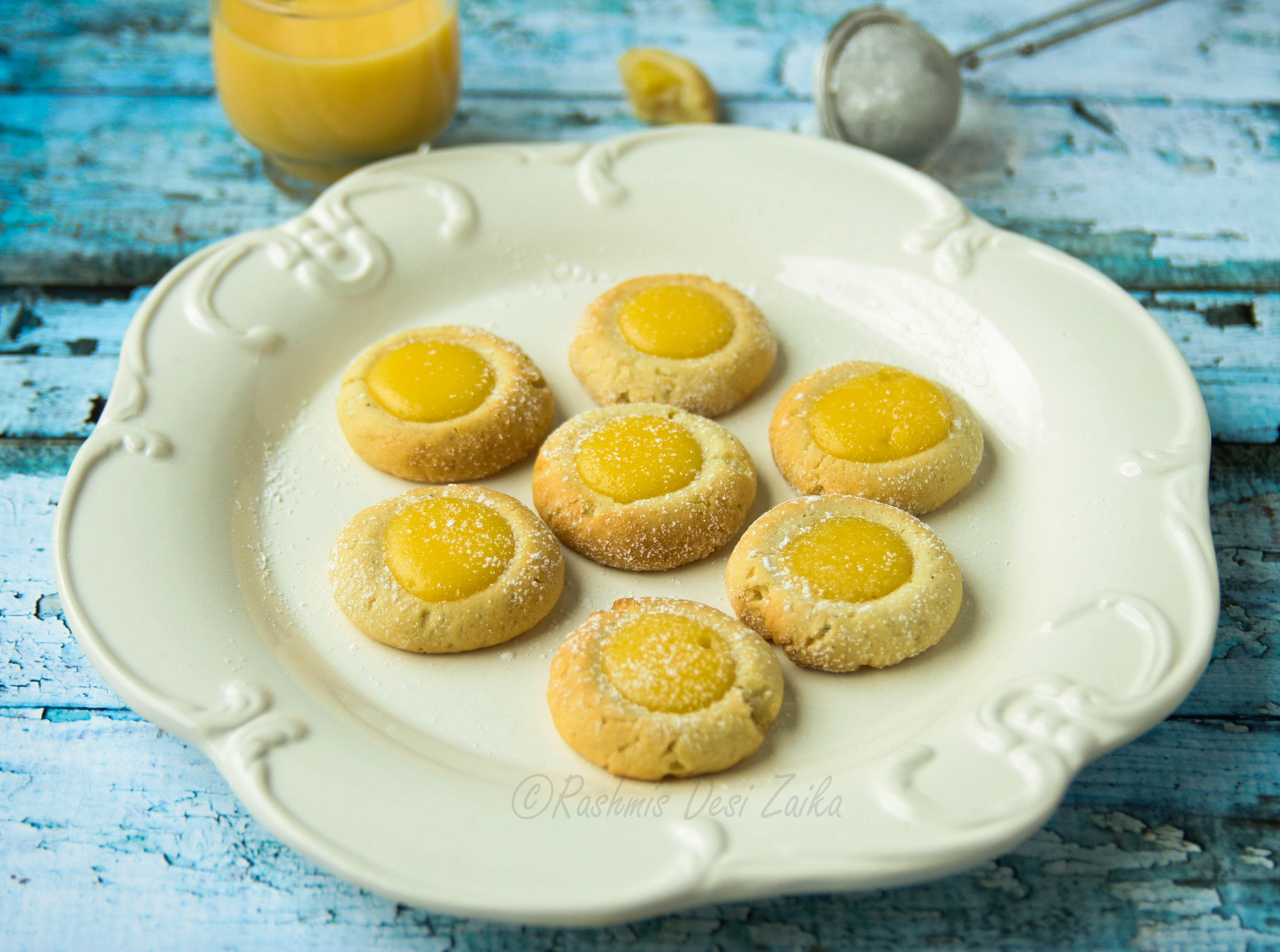Black Pepper Thumbprint Cookies With Ginger Lemon Curd