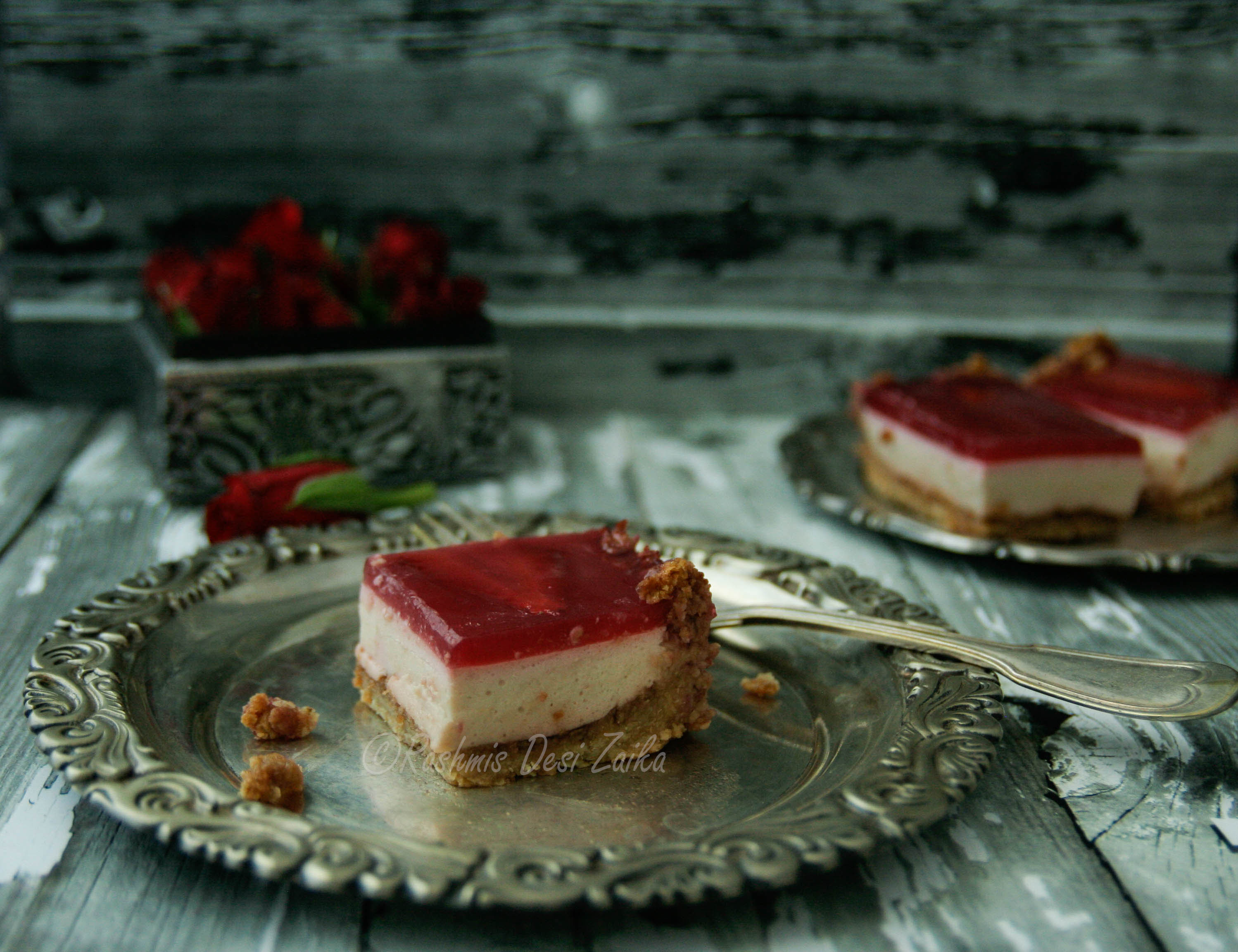 Rosewater and Pomegranate Bites