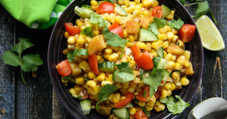 Tangy and Spicy Corn Potato Chaat