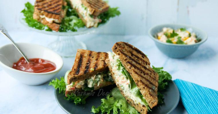 Chili Cream Vegetable Sandwich