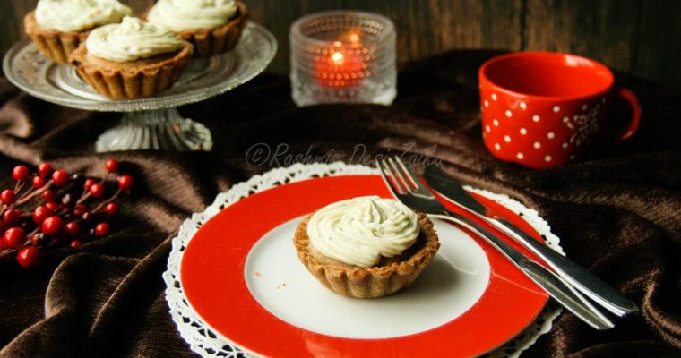 Lanttu Sinihomejuusto Kukkoset-Rutabaga Blue Cheese Mini Pie